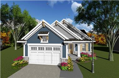 3-Bedroom, 1170 Sq Ft Ranch House Plan - 101-1899 - Front Exterior