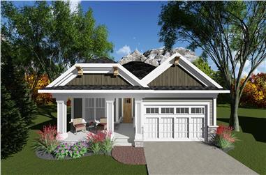 2-Bedroom, 1334 Sq Ft Ranch Home Plan - 101-1900 - Main Exterior