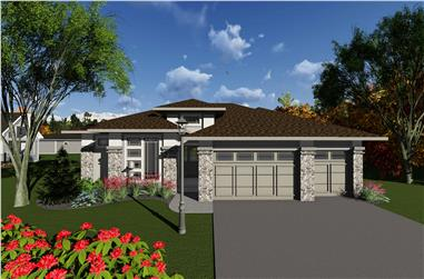 2-Bedroom, 1904 Sq Ft Contemporary House Plan - 101-1911 - Front Exterior