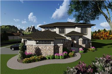 5-Bedroom, 3790 Sq Ft Contemporary House Plan - 101-1930 - Front Exterior