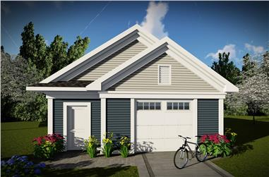 0-Bedroom, 656 Sq Ft Garage Home Plan - 101-1962 - Main Exterior