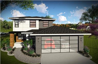 3-Bedroom, 1601 Sq Ft Contemporary Home Plan - 101-1969 - Main Exterior