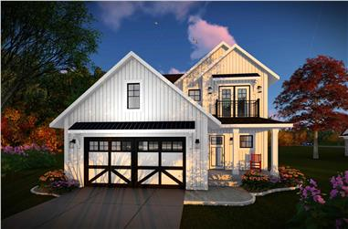 3-Bedroom, 2178 Sq Ft Contemporary House Plan - 101-1976 - Front Exterior