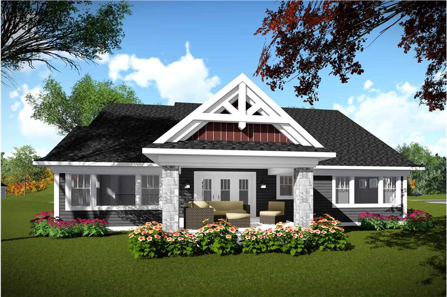 Rear View of this 2-Bedroom,2224 Sq Ft Plan -101-1977