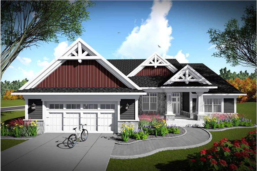 2-Bedroom, 2224 Sq Ft Southern Home Plan - 101-1977 - Main Exterior