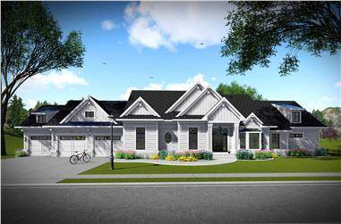 3-Bedroom, 2784 Sq Ft Southern Home Plan - 101-1980 - Main Exterior