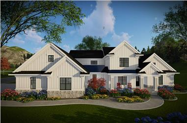 4-Bedroom, 3205 Sq Ft Contemporary Home Plan - 101-1982 - Main Exterior