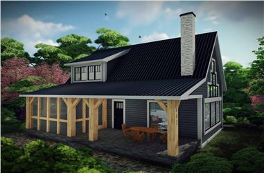 1-Bedroom, 1252 Sq Ft Farmhouse House Plan - 101-1986 - Front Exterior
