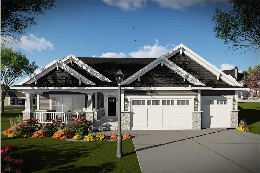 Front View of this 3-Bedroom,2005 Sq Ft Plan -101-1998