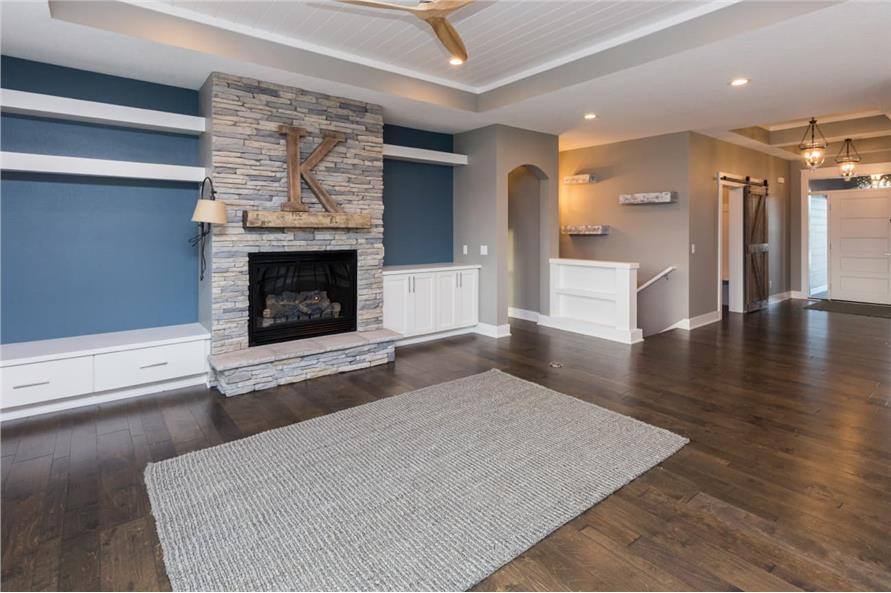 Great Room: Fireplace of this 3-Bedroom,2005 Sq Ft Plan -101-1998