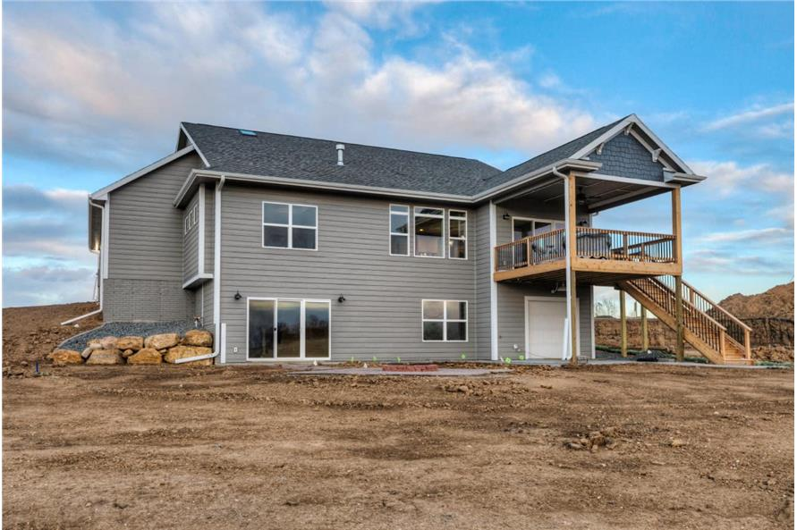 Rear View of this 3-Bedroom,2005 Sq Ft Plan -101-1998