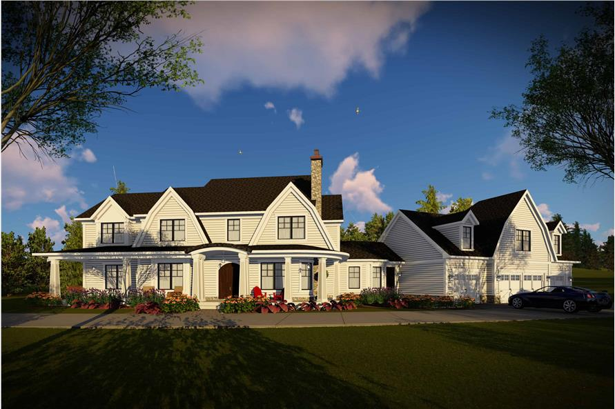 Front View of this 5-Bedroom,4724 Sq Ft Plan -101-2006