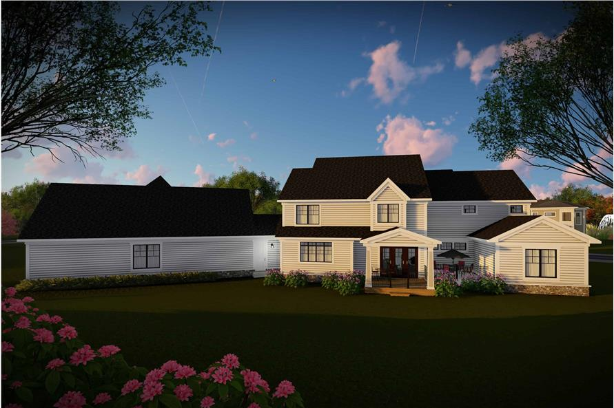 Rear View of this 5-Bedroom,4724 Sq Ft Plan -101-2006