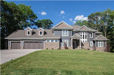 5-Bedroom, 5384 Sq Ft Luxury House - Plan #101-2016 - Front Exterior