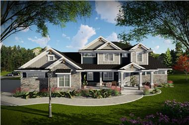 5-Bedroom, 4853 Sq Ft Luxury House - Plan #101-2020 - Front Exterior