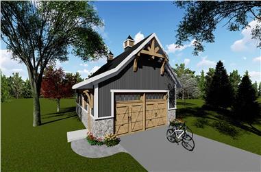 0-Bedroom, 1040 Sq Ft Garage Home - Plan #101-2034 - Main Exterior