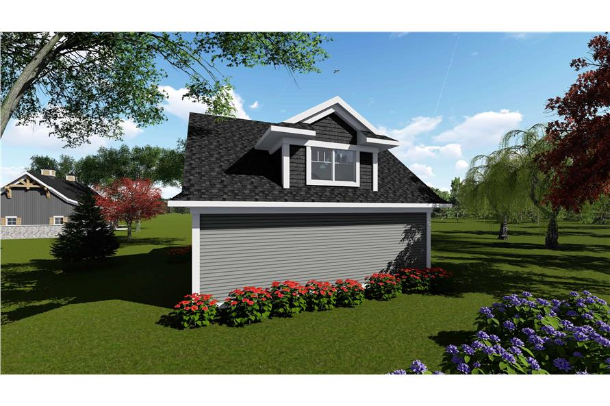 Rear View of this 0-Bedroom,1392 Sq Ft Plan -101-2035