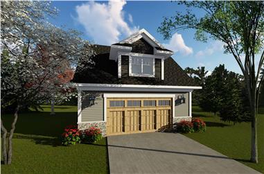 0-Bedroom, 1392 Sq Ft Garage House Plan - 101-2035 - Front Exterior