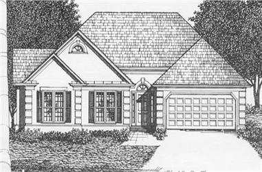 3-Bedroom, 1461 Sq Ft Ranch Home Plan - 102-1000 - Main Exterior