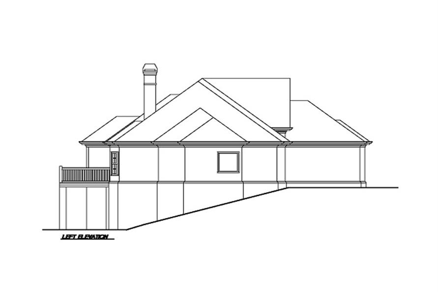 Home Plan Left Elevation of this 3-Bedroom,1883 Sq Ft Plan -102-1002
