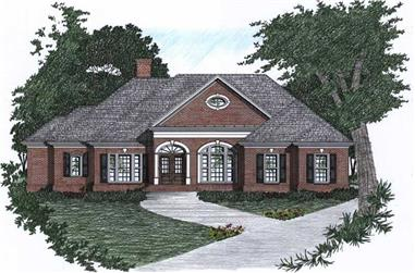 3-Bedroom, 1883 Sq Ft Ranch Home Plan - 102-1002 - Main Exterior