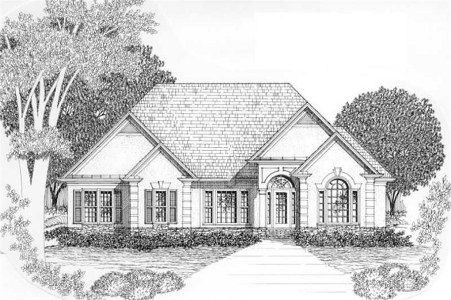 3-Bedroom, 2086 Sq Ft European Home Plan - 102-1003 - Main Exterior