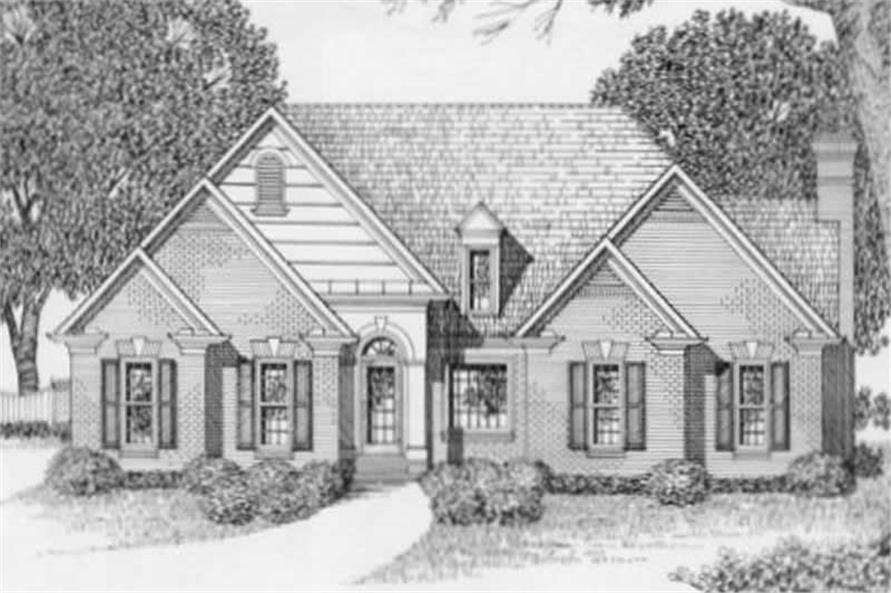4-Bedroom, 2077 Sq Ft European Home Plan - 102-1004 - Main Exterior
