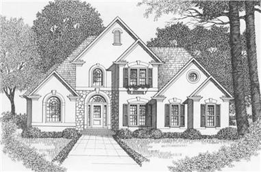 3-Bedroom, 1776 Sq Ft Contemporary Home Plan - 102-1005 - Main Exterior