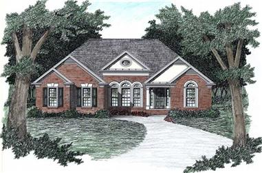 3-Bedroom, 1450 Sq Ft European Home Plan - 102-1006 - Main Exterior