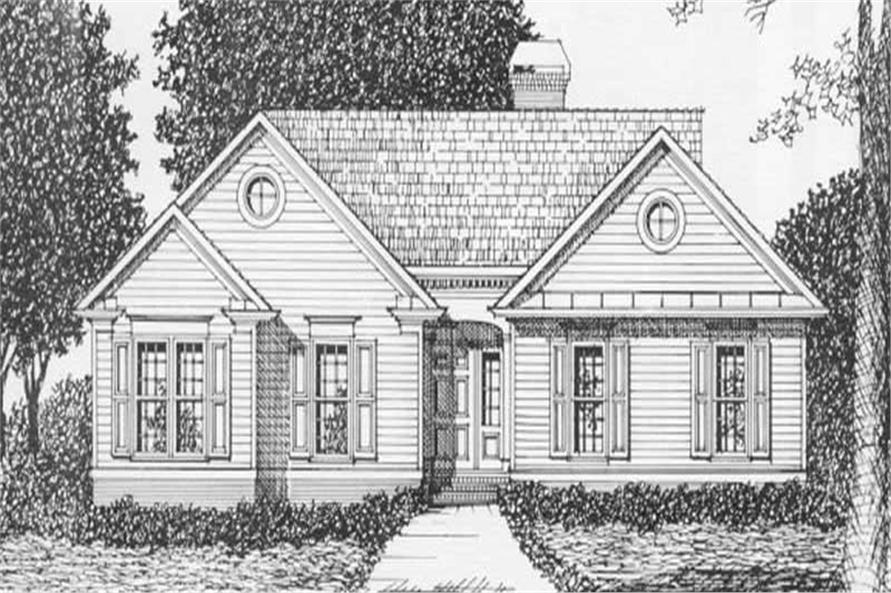 3-Bedroom, 1344 Sq Ft Ranch Home Plan - 102-1007 - Main Exterior