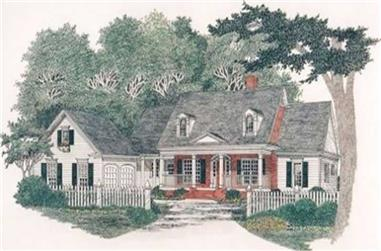3-Bedroom, 2672 Sq Ft Country Home Plan - 102-1009 - Main Exterior