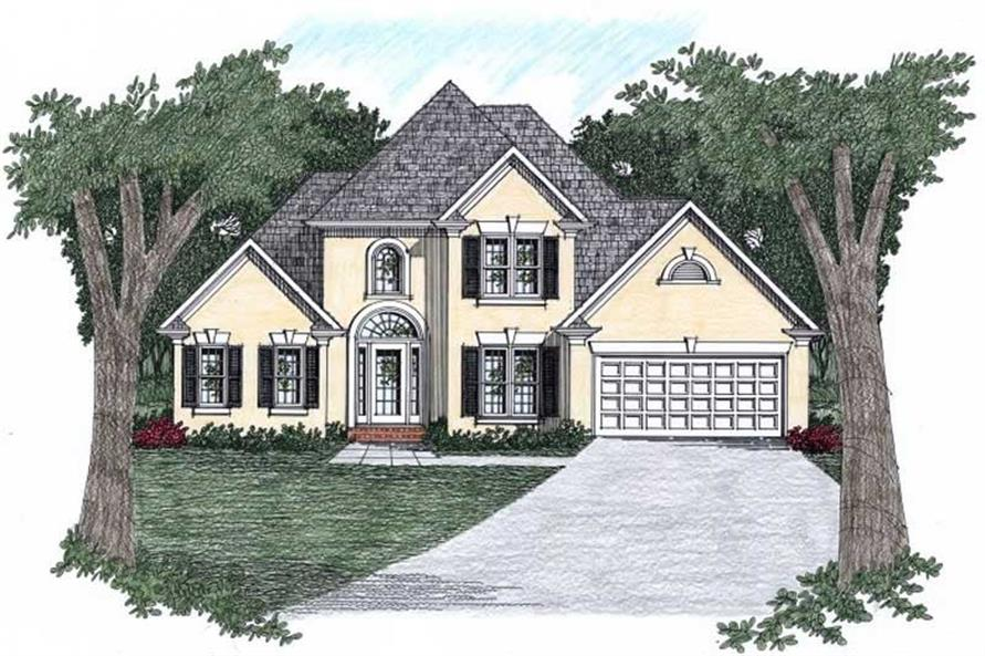 3-Bedroom, 1516 Sq Ft Craftsman Home Plan - 102-1010 - Main Exterior