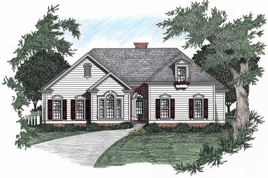 3-Bedroom, 1704 Sq Ft Ranch Home Plan - 102-1012 - Main Exterior