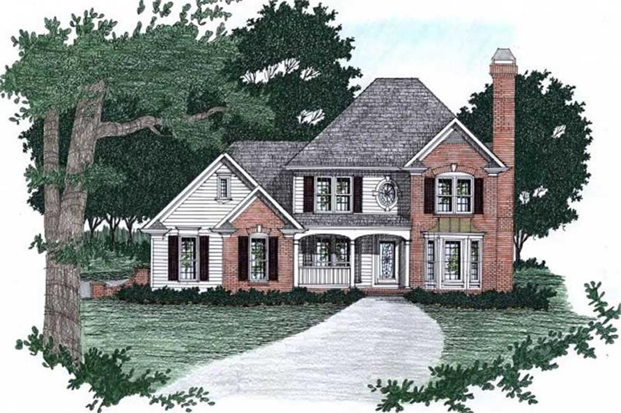 3-Bedroom, 2152 Sq Ft European Home Plan - 102-1015 - Main Exterior
