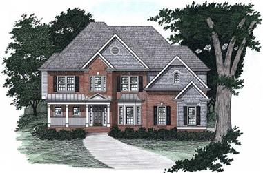 5-Bedroom, 3038 Sq Ft European Home Plan - 102-1016 - Main Exterior