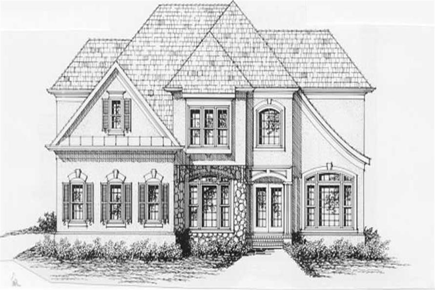 4-Bedroom, 2570 Sq Ft European Home Plan - 102-1017 - Main Exterior