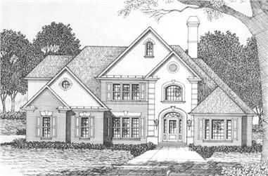 4-Bedroom, 3140 Sq Ft Contemporary Home Plan - 102-1019 - Main Exterior