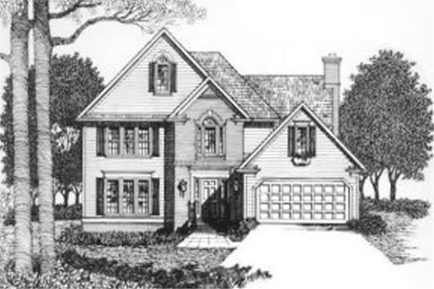 3-Bedroom, 1841 Sq Ft Traditional Home Plan - 102-1020 - Main Exterior