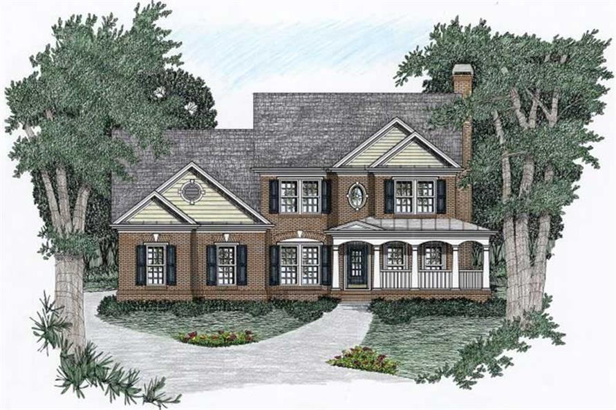 5-Bedroom, 2070 Sq Ft Country Home Plan - 102-1024 - Main Exterior