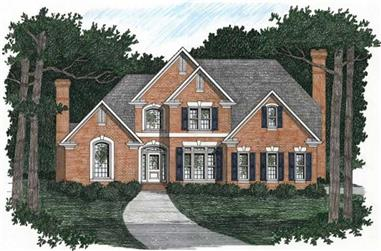 4-Bedroom, 2750 Sq Ft European Home Plan - 102-1026 - Main Exterior