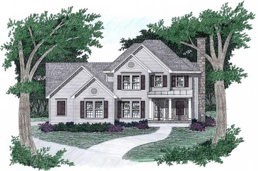 3-Bedroom, 1696 Sq Ft Southern Home Plan - 102-1027 - Main Exterior