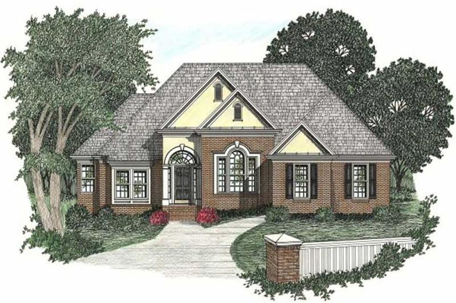 3-Bedroom, 1732 Sq Ft European Home Plan - 102-1028 - Main Exterior