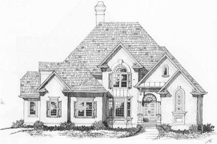 4-Bedroom, 3339 Sq Ft European Home Plan - 102-1029 - Main Exterior