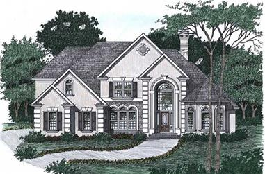 4-Bedroom, 3445 Sq Ft Contemporary Home Plan - 102-1030 - Main Exterior