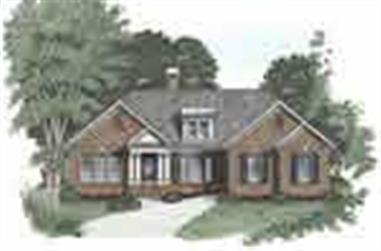 3-Bedroom, 1592 Sq Ft Ranch Home Plan - 102-1032 - Main Exterior