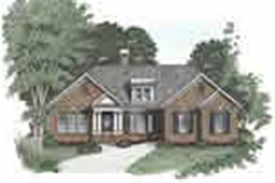 3-Bedroom, 1592 Sq Ft Ranch Home Plan - 102-1032 - Main Exterior
