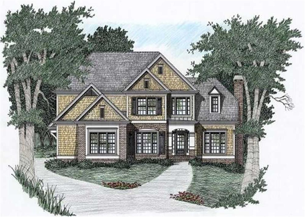 Front elevation of Traditional home (ThePlanCollection: House Plan #102-1034)