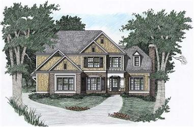 4-Bedroom, 2329 Sq Ft Traditional Home Plan - 102-1034 - Main Exterior