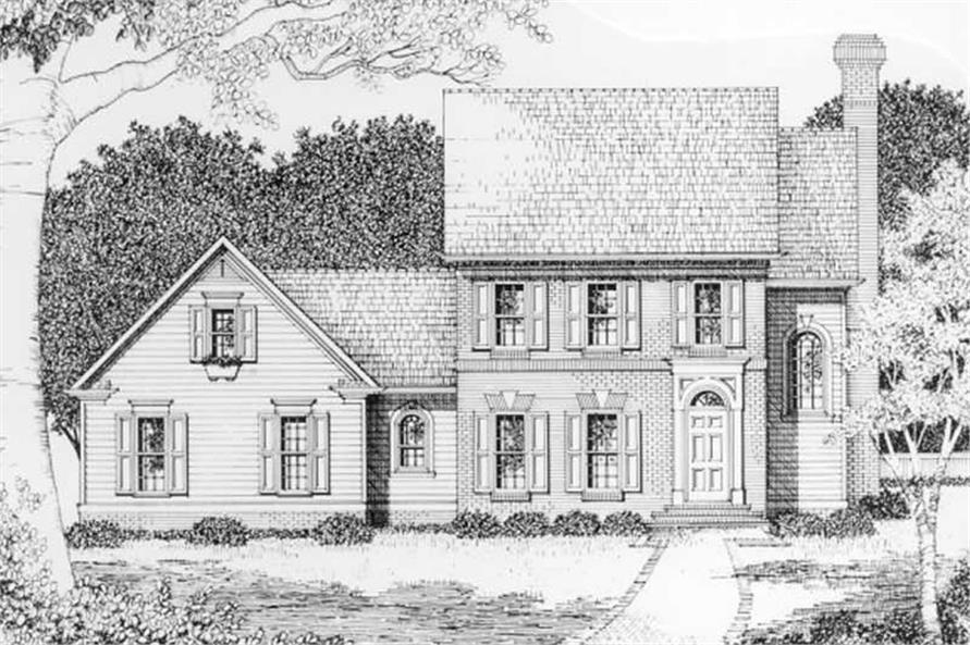 3-Bedroom, 1793 Sq Ft Southern Home Plan - 102-1035 - Main Exterior