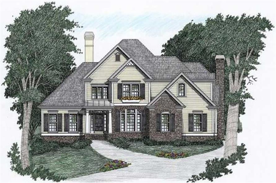 4-Bedroom, 3559 Sq Ft European Home Plan - 102-1039 - Main Exterior